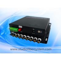 compact 8CH AHD video audio fiber transmitter and receiver for remote CCTV surveillance system Manufactures