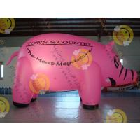 Quality 6m Cute Custom Shaped Balloons , 0.18mm Pink PVC Inflatable Helium Balloon for sale