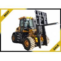 China 4 Tons All Terrain Fork Lift Trucks Strong Power Wide - View Unique Overhead Guard Design on sale