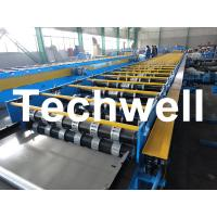 Galvanized Steel Floor Deck Roll Forming Machine For Floor Decking Sheets Manufactures