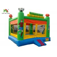 Green Custom Outdoor Adult Inflatable Large PVC Tarpaulin Commercial Bouncy Castles for Rent Manufactures