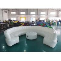 12ft Diameter Round Shape Inflatable Sofa For Meeting With White Color Manufactures