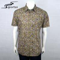 Yarn Dyed Men'S Printed Casual Shirts , Fashion Casual Shirts Quick Dry Manufactures