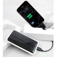 UK plug solar powered travel charger for iphone with PC material Manufactures