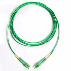 Green Cable Fibre Optic Patch Cord  LC/APC-LC/APC Singlemode Duplex 3.0mm OFNR Manufactures