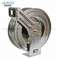 China Automatic Retractable Hose Reel Stainless Steel Spring Loaded For Home on sale