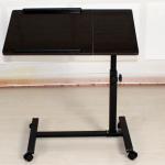 Small Rolling Adjustable Laptop Table Tiltable Tabletop Desk TV Stand DX-BJ17 Manufactures