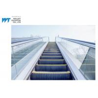 Glass / Stainless Steel Balustrade Outdoor Escalator With Comb Plate Safety Devices Manufactures