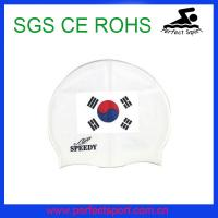 China Cheap wholesale silicone national swim caps on sale