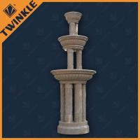 Outdoor Pillar Stone Water Fountains For Hotel With Polished Surface Manufactures