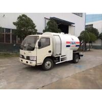 2.5MT Bobtail Propane Truck , Dongfeng 4X2 Small Cylinder Filling Fuel Bowser Truck Manufactures