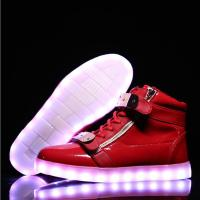 Reathable LED Light Up Sneakers Red Light Up Shoes Rechargeable Function Manufactures