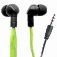 Waterproof Earphones for iPod/MP3/iPad/iPhone, w/ Cloth Cable, Convenient for Swimming/Rainy Weather Manufactures