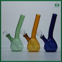 7 Inches Smoking Glass Water Pipe 60g Weight With Green Color RGW27-2 Manufactures