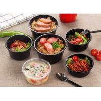 China Round shape injection PP material food cups thicker takeaway soup bowls on sale