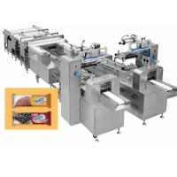 Cake Tidying , Feeding Pastry Packaging Machine Automatic 8520*2200*1400 Mm Manufactures