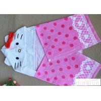 China Cute Velour Full Reactive Hooded Poncho Towels For Toddlers 21s wholesale