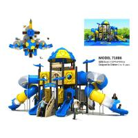 Amusement Large Garden Slide Space Slide Playground For 3 - 12 Years Old Manufactures