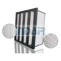 Plastic Frame V Bank Air Filter Lightweight With High Dust Holding Capacity Design Manufactures