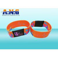Mifare 1k Printing elastic fabric rfid wristband bracelet for waterpark Manufactures