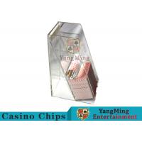 Casino Dedicated Poker Discard Holder , Playing Card Tray Holder For 2 Decks Manufactures
