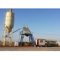 China Small Bucket Weigh Batching Plant Twin Shaft Mixer 35m3/Hr For Concrete Mixing on sale