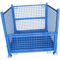 Heavy Duty Wire Mesh Storage Containers Stackable Space Saving for sale