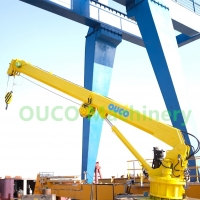 Electro Telescopic Cylinder 0.2t 20m Ship Deck Cranes Manufactures