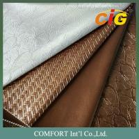 Upholstery Fabric PVC Artificial Leather Colorful With Different Thickness Manufactures