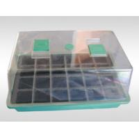 PP / PS Garden Mini Greenhouse Plastic Seeds Propagation Nursery Pots with Breeding Tray for Kits Manufactures