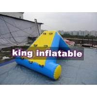 Commercial 0.9mm PVC Tarpaulin Inflatable Big Air Slide For Water Park Manufactures