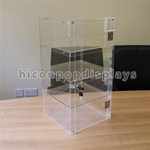 Lockable 4 - Layer Clear Acrylic Display Tower Desktop Waterproof Display Case