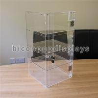 Quality Lockable 4 - Layer Clear Acrylic Display Tower Desktop Waterproof Display Case for sale