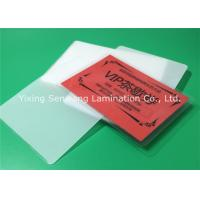 Round Corner Hot Lamination Film , Moisture Proof Laminating Sleeves Pouches Manufactures