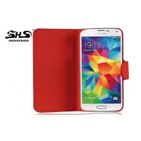 Cell Phone Protective Covers For Samsung Galaxy S5 / i9600 PU Cases Stitching Edge Surface Manufactures