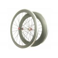 China Front 50MM Lightweight Alloy Road Bike Wheels V Shape With Toray 700 High Stiff on sale