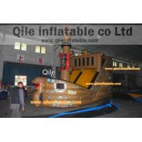 Quality large inflatable Pirate ship slide inflatable Disneyland castle inflatable Pirate ship for sale
