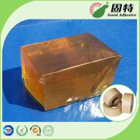 China High Strength Yellowish Industrial Hot Melt Glue Semi Transparent For Kraft Paper on sale