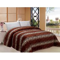 Leopard Style Winter Quilt Sets Square Stitching With ISO9001 Certification Manufactures