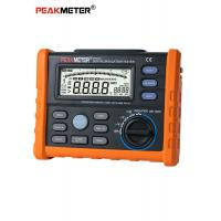 Black Digital Insulation Resistance Tester Analogue And Digital Multimete Measurement Manufactures