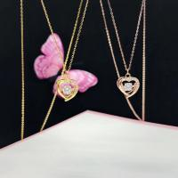 Buy cheap Girls 18K Gold Jewelry Heart Pendant Necklace 1mm Size For Loving Gifts from wholesalers