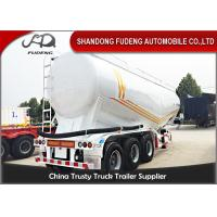 2 / 3 Axle Double-Cylinder Bulk Cement Tanker Trailer For Powder Transportation Manufactures