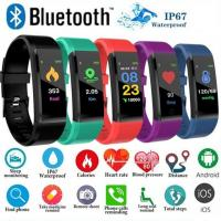 wholesale  Hot ID115Plus Smart Bracelet Sport Bluetooth Wristband Heart Rate Monitor Watch Activity Fitness Tracker Smar Manufactures
