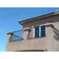 outdoor glass stairs railings / outdoor wrought iron stairs railing Manufactures
