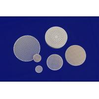 Quality Strong Corrosion Resistance Against Acid And Alkali Honeycomb Ceramic Round Plate for sale