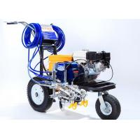 Striping Road Line Marking Machine With Double Guns And Piston Pump Manufactures