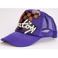 Multi Panels Adjustable  Mesh Back Trucker Hats Caps Printed Cotton Twill Sweatband Manufactures
