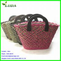 Paper String and Mesh Tote Bag w/wood buttons Manufactures