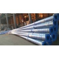 8m White Painted Industrial Street Light Poles Round Shape For Highway Manufactures