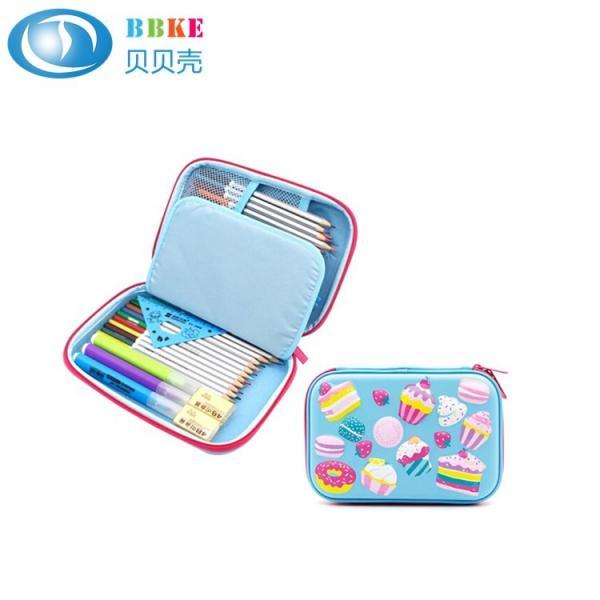 Quality Custom Cartoon Colorful Lovely Portable Hard EVA Pencil Case For School Kids for sale